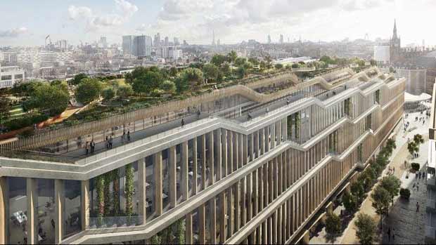 Google va construire un grand gratte-ciel horizontal pour son nouveau siège à Londres.