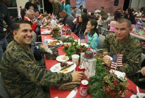 Dîner de Noël à Camp Pendleton, Californie