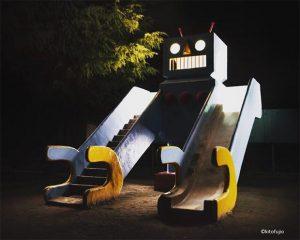 photo d un aire de jeux au Japon