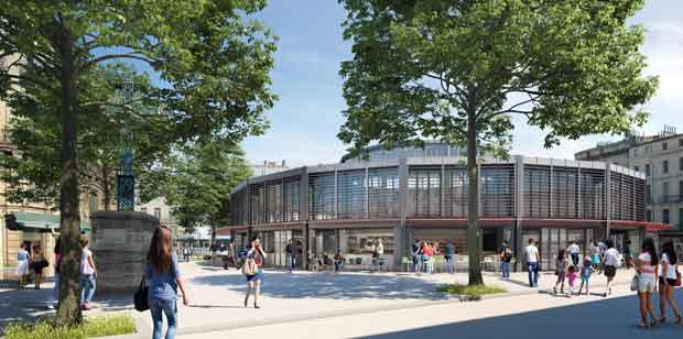 Les Halles Laissac de Montpellier sont en cours de transformation.