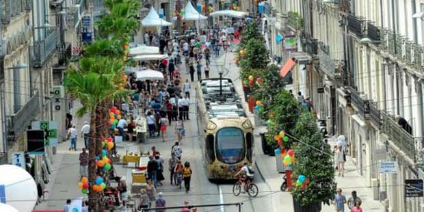 Le boulevard Jeu de Paume à Montpellier a été rénové