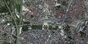 La map du centre-ville de reims