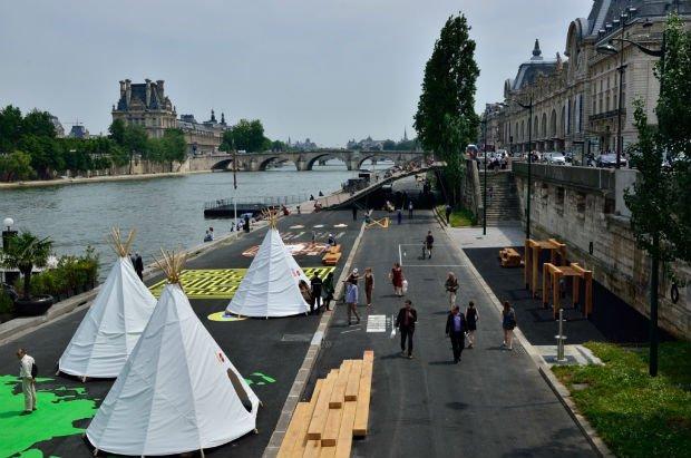 Les voies sur berges des Rives de la Seine