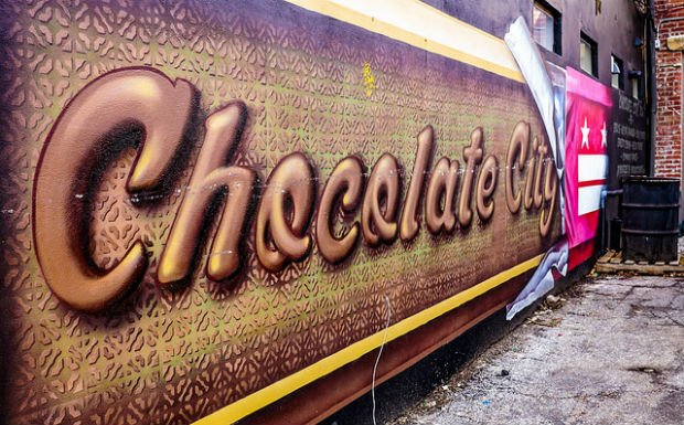 "Graffiti ""Chocolate City"" à Washington DC"