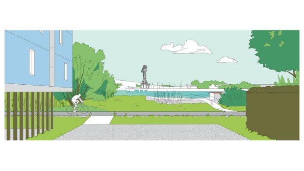 La sérénité semble pouvoir être retrouvée sur les bords de fleuve grâce à ce projet urbain