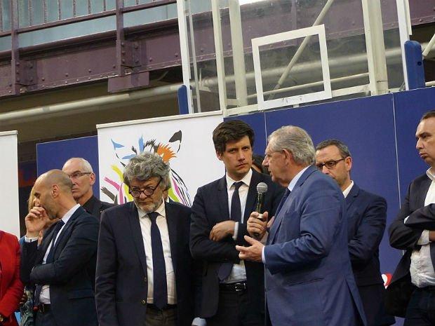 Jean-Louis Borloo, Julien Denormandie et Jacques Mézard aux États Généraux de la politique de la ville à Paris le 26 avril