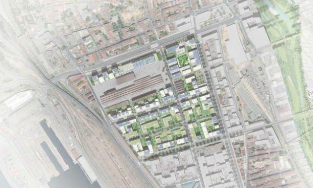 """Projet actuel des """"Fabriques"""", porte d'entrée nord du grand centre-ville de Marseille."""