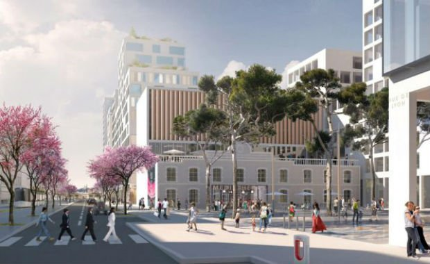Aperçu de la future rue de Lyon, pour un écoquartier méditerranéen aux revêtements clairs, qui sera principalement piéton et résolument moderne