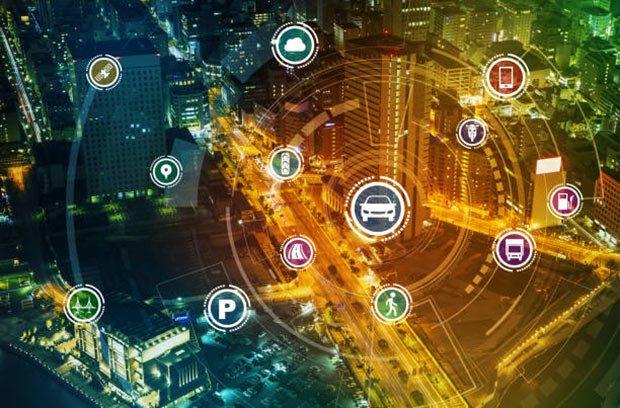 illustration de la smart city et des donnees