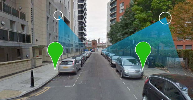 Parking map scanne les rues avec ses capteurs à la recherche des places vides