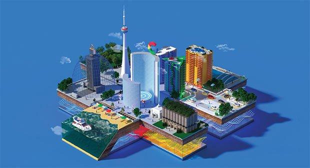 illustration de la smart city