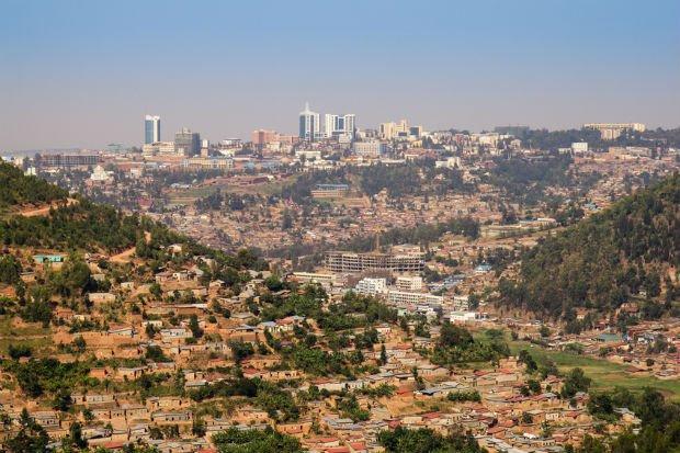 Paysage vallonné de Kigali