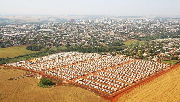 Des quartiers MCMV construit en périphérie de São Paulo