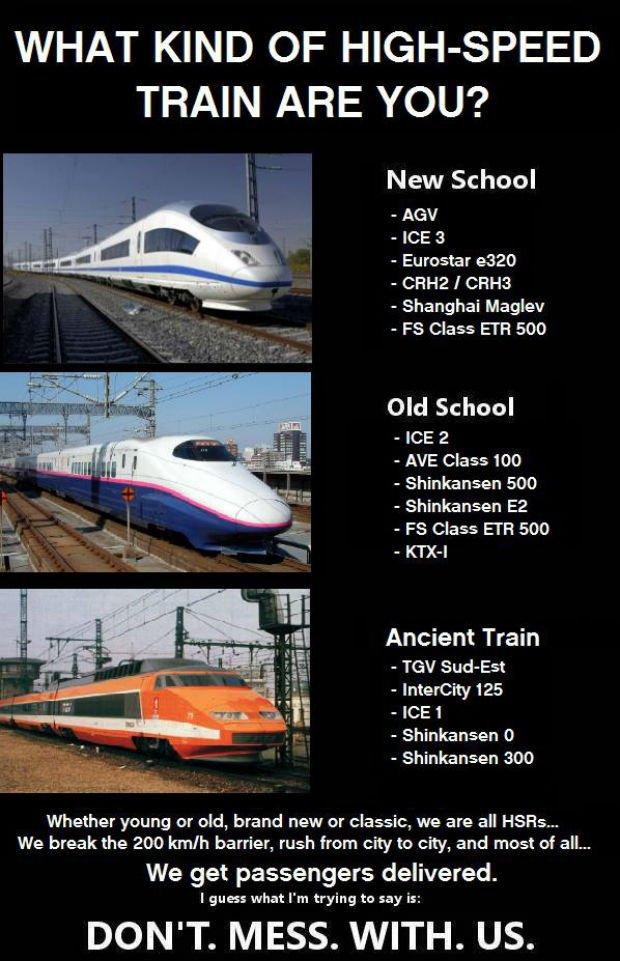 Quel train à grande vitesse êtes-vous ?