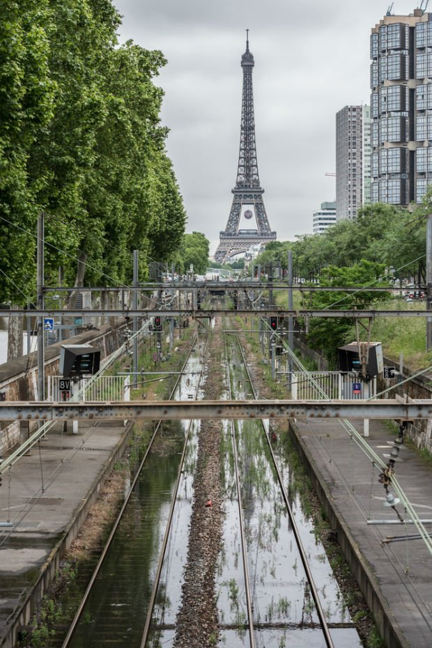 La ligne de RER C est inondée en juin 2016