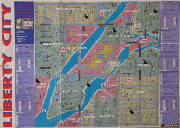 Egaré à Liberty City en 1997 ? Pas de panique, voilà un plan pour vous aider.