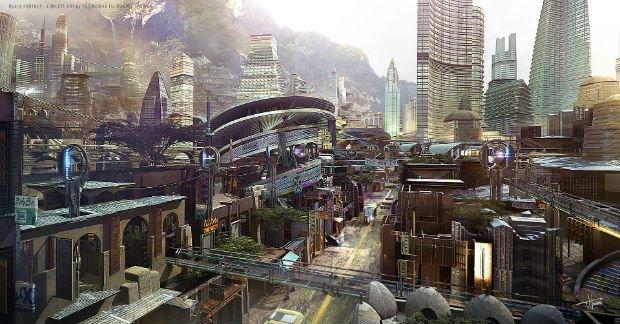 Concept-art pour le film Black Panther