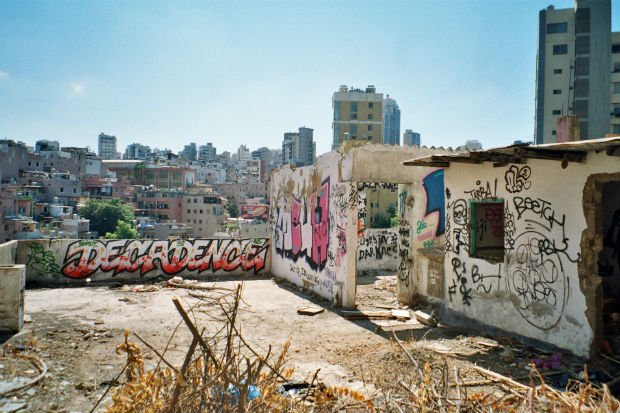 Graffiti dans le quartier de Ghabi à Beyrouth