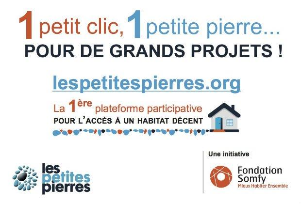 """La plateforme """"Les Petites Pierres"""" propose de soutenir de nombreux projets solidaires pour lutter contre le mal logement."""