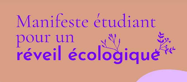 Capture d'écran du Manifeste étudiant pour un réveil écologique