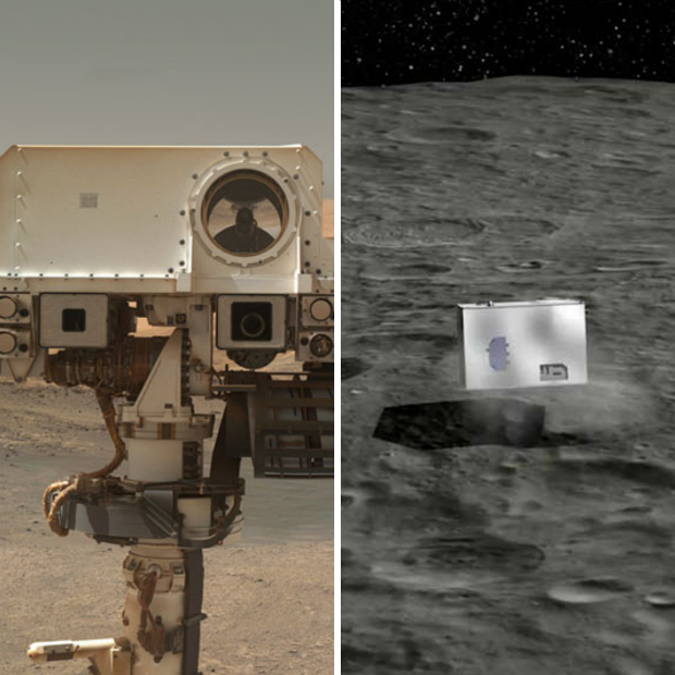 Le Robot Curiosity, éclaireuse sur la planète Mars et Mascot, frère de Philae envoyé sur l'astéroïde Ryugu cet été 2018 pour poursuivre la mission de recherche - The Atlantic et Presse Citron