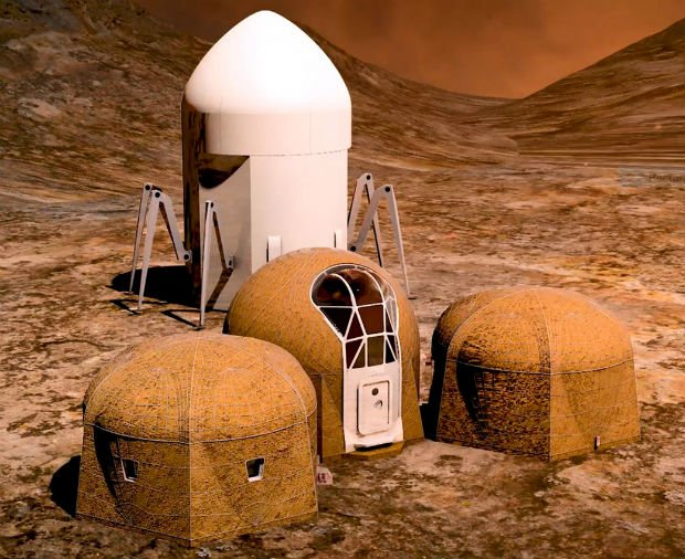 Projet de l'équipe Zopherus of Rogers, Arkansas, premier lauréat au concours d'habitat 3D de la NASA, Phase 3: compétition niveau 1. ©NASA