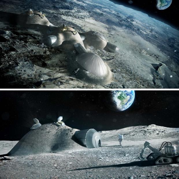 Modélisation d'habitations lunaires - Foster+Partners