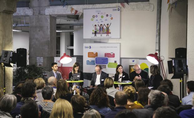 Le comité éditorial de Demain la ville, le Lab au Centsept à Lyon - Corentin Mossière