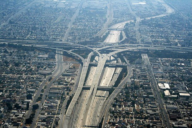 Échangeur routier à Los Angeles