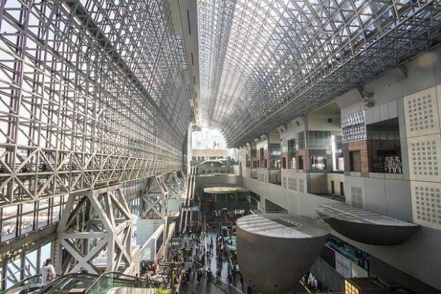 L'impressionnante gare de Kyoto