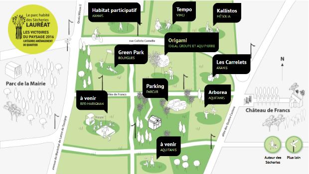 """Aménagement du Parc des Sécheries et localisation des opérations immobilières des parcelles """"Les Carrelets"""" et """"Les Petits Ruisseaux"""""""