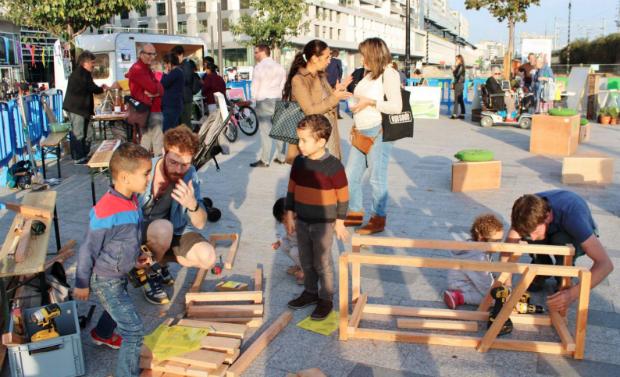 Le village éphémère Play Green pour communiquer différemment sur le projet