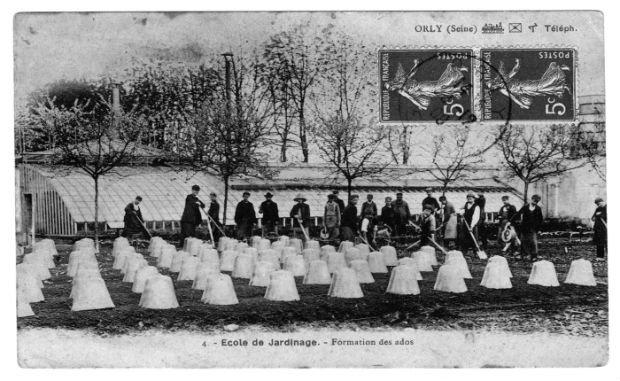 Une école de jardinage à Orly au début du siècle