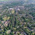 La ville de Letchworth, première cité jardin de Howard.