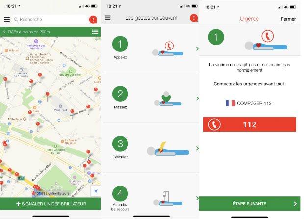 L'application Staying Alive cartographie et recense les défibrillateurs