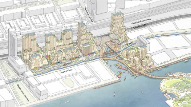 Projection du futur quartier intelligent Quayside