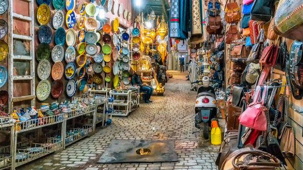 Panorama d'artisanat marocain