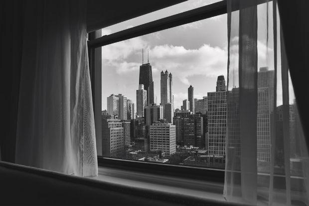 Vue d'une tour à Chicago