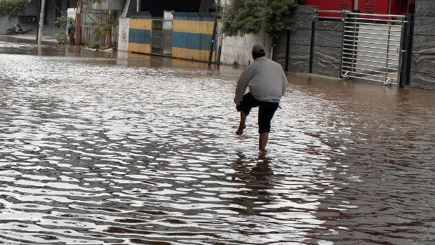 Jakarta sous l'eau