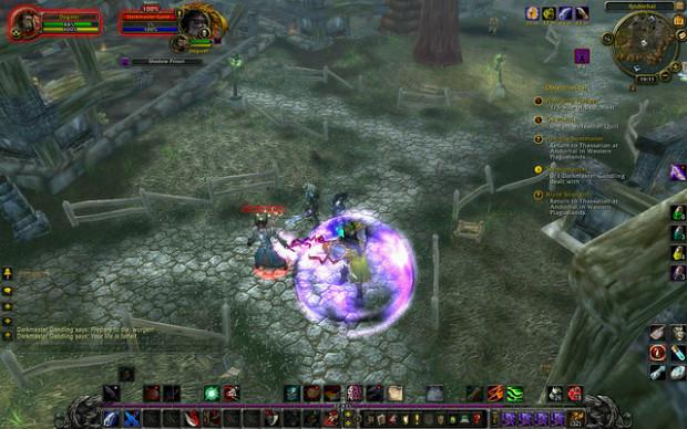 Interface de World of Warcraft: Cataclysm, 3e extension du MMORPG (jeu de rôle en ligne massivement multijoueur) le plus célèbre, sorti en 2009 - Crédits Stefson sur Flickr