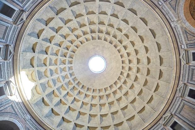 Plafond du Panthéon de Rome