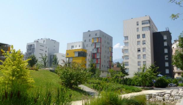 Jardin de l'écoquartier de Bonne à Grenoble