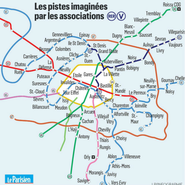 RER V - Infographie le parisien