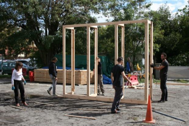 """La première maison des chantiers """"Bigre !"""" a été éphémère et co-construite © Crédit Aquitanis - D'Asques et d'Ailleurs"""