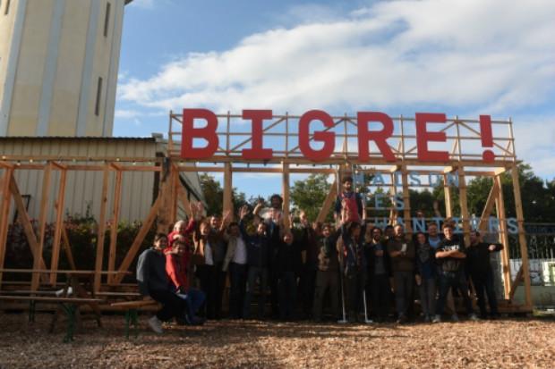 """La première maison des chantiers """"Bigre !"""" a été éphémère et co-construite"""
