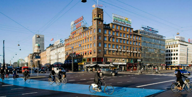 Copenhague, capitale du Danemark, comporte plus de vélos que d'habitants.