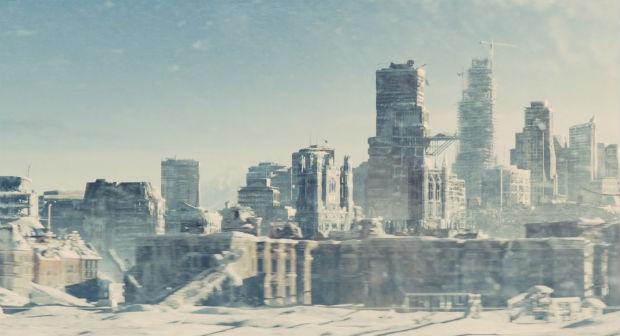La ville glacée, dans Snowpiercer, Le Transperceneige (2013)