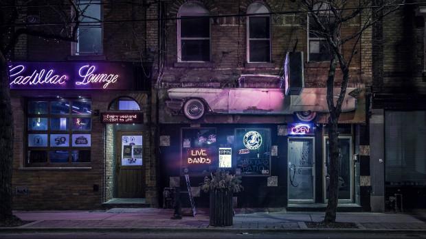 """Entrée d'un """"Music Venue"""", lieu utilisé pour des concerts à Toronto"""