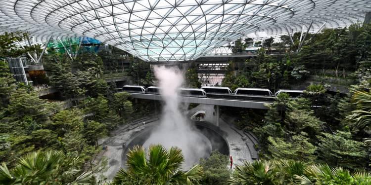 l'aéroport de Singapour