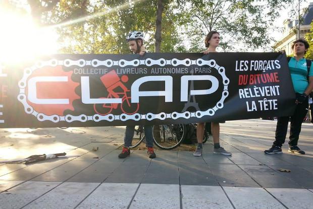 Le Collectif des Livreurs Autonomes de Paris (CLAP) est un syndicat de livreurs à vélo - CLAP/Facebook